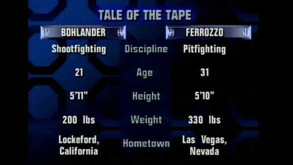Victoire de Jerry Bohlander contre Scott Ferrozzo