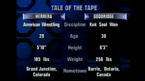 Victoire de Gary Goodridge contre Paul Herrera