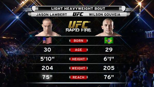 Victoire de Wilson Gouveia contre  Jason Lambert